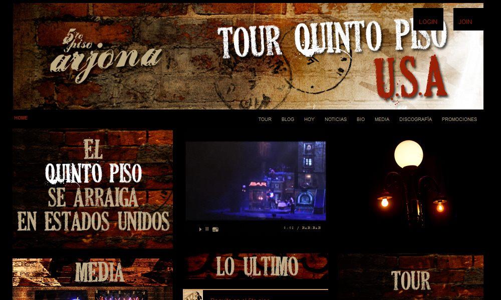 Sitio Oficial Ricardo Arjona