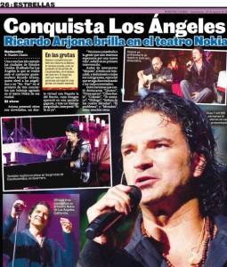 Ricardo Arjona brilla en el teatro Nokia – Los Ángeles U.S.A