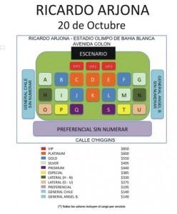 Venta de Entradas para ver a Ricardo Arjona en Bahía Blanca-Argentina