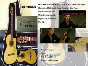 Venden una Guitarra Firmada por Arjona
