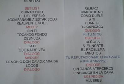 Canciones en Mendoza