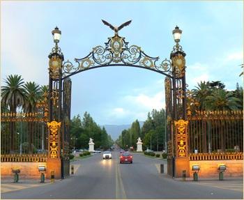 Portones del parque de Mendoza