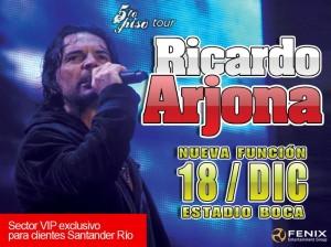 Ricardo Arjona cierra un 2009 de gira en Argentina