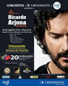 Ricardo Arjona se presentará en Honduras