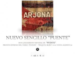 """Cambios en el sitio oficial por lanzamiento de """"Puente"""""""