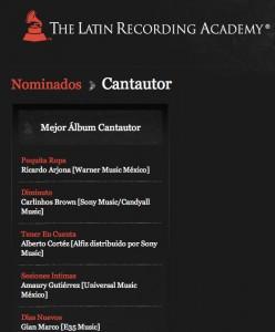 """Ricardo Arjona nominado al Grammy Latino 2011 con el álbum """"Poquita Ropa"""""""