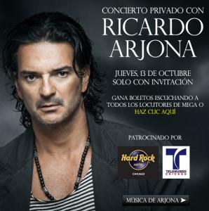 Concierto privado de Ricardo Arjona en Chicago