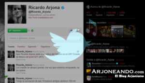 Ricardo Arjona con más de 1 millón de Followers en Twitter