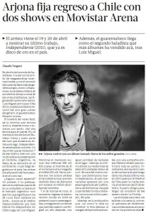 Ricardo Arjona regresa a Chile con su World Tour Independiente