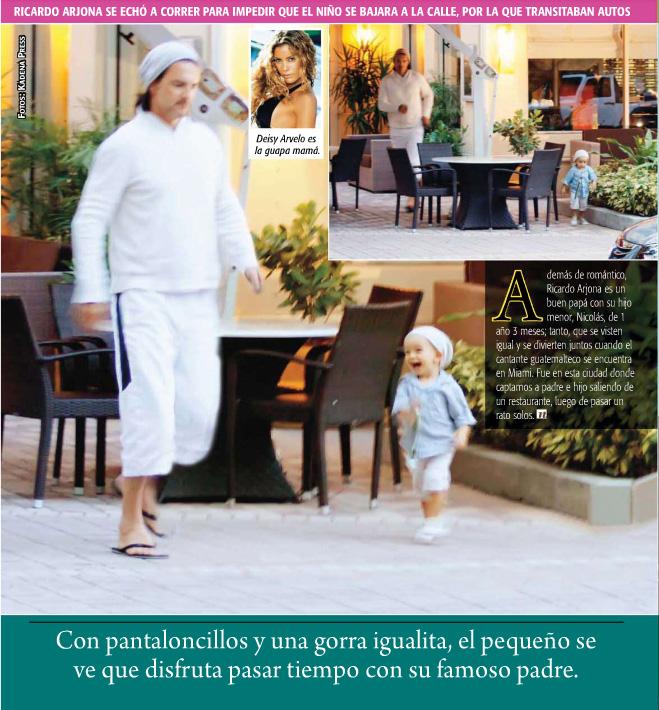 kB · jpeg, Ricardo Arjona disfrutando junto a su hijo menor, Nicolás