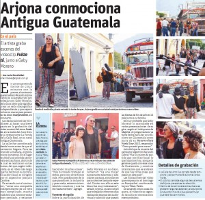Ricardo Arjona en medios impresos guatemaltecos