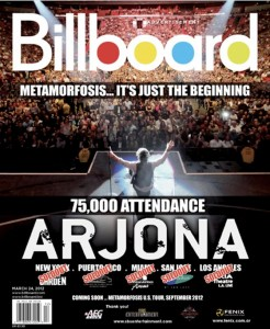 """Metamorfosis World Tour"" es la portada de la revista Billboard"