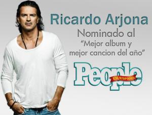 Ricardo Arjona nominado en 2 categorías en los Premios People