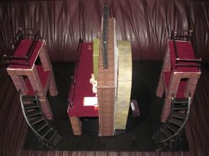 Maquetas de los escenarios: 5to piso y Metamorfosis