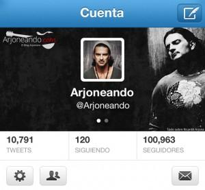 @arjoneando con más de 100,000 followers en Twitter