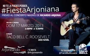 #FiestaArjoniana previo al concierto masivo de Ricardo Arjona en Guatemala