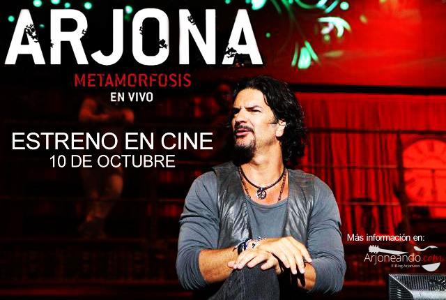 Entreno en Cine Ricardo Arjona Metamorfosis en Vivo