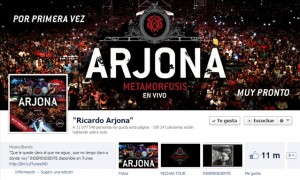 Ricardo Arjona con más de 11 millones de Fans en Facebook