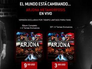 """Arjona Metamorfosis en Vivo (versión """"exclusiva"""" para fans)"""
