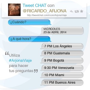 Tweet Chat con Ricardo Arjona