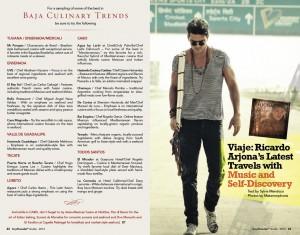 """Ricardo Arjona en la portada de """"Baja Traveler Guide"""""""