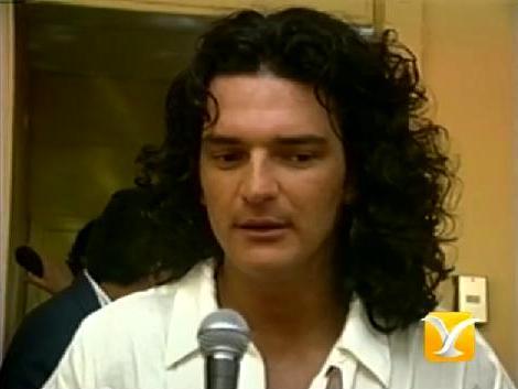 Ricardo Arjona desde el backstage de Viña del Mar 1995
