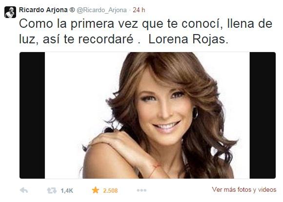 Ricardo Arjona y Lorena Rojas