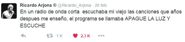 Apague la luz y escuche Ricardo Arjona 2